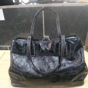 Black Patent Leather Coach Purse